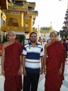 Fr Mascarenhas with Buddhist Monks
