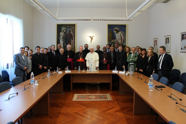 Photo of Staff with Holy Father
